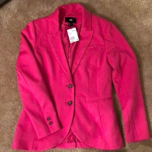 H&M hot pink blazer